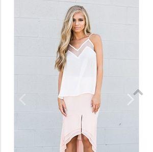 Blush Knee Length Skirt